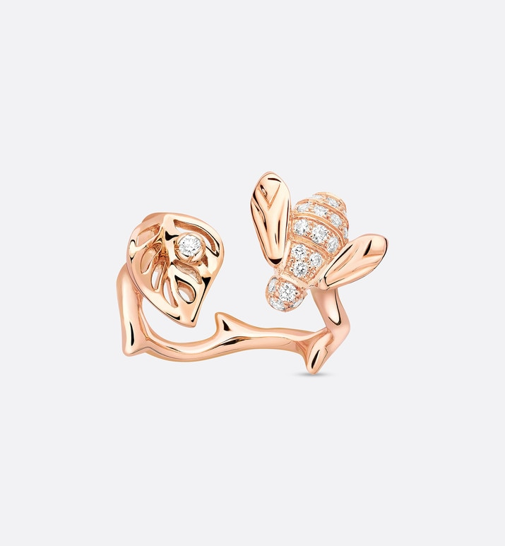 rose dior pré catelan ring in 18k pink gold and diamonds | Dior