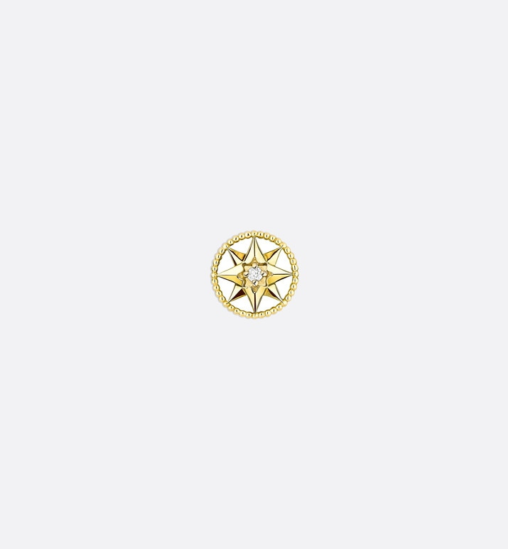 rose des vents xs earring, 18k yellow gold and diamond | Dior