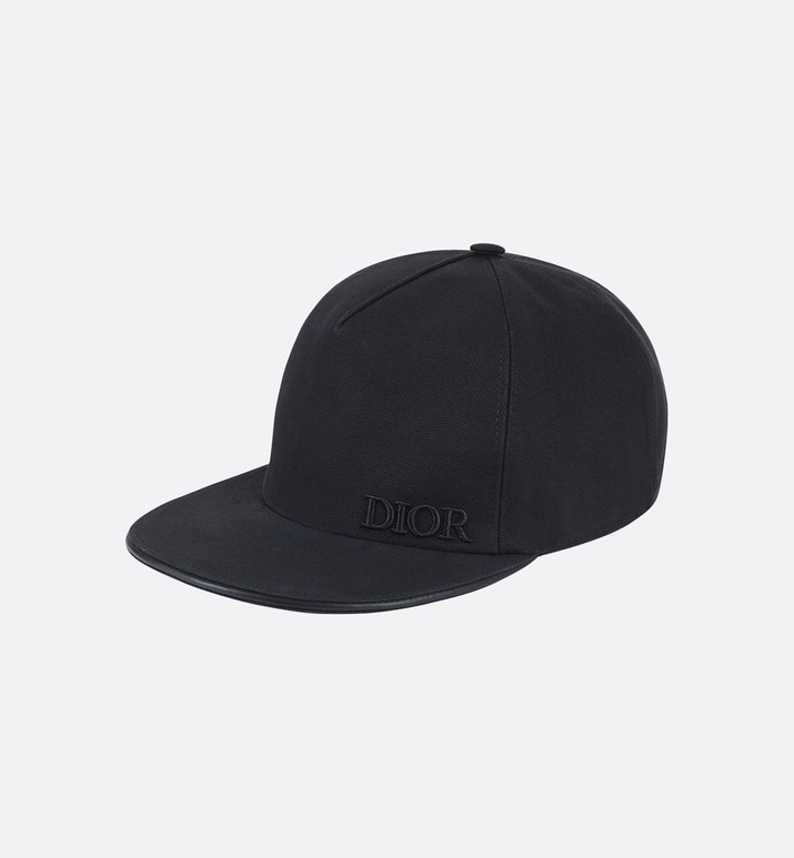 black cotton baseball hat | Dior