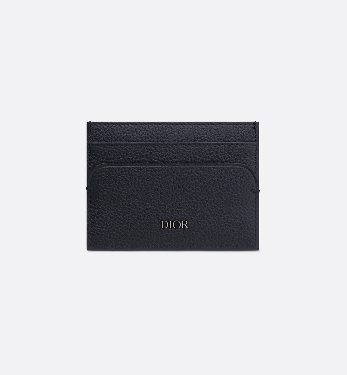 navy blue calfskin card holder | Dior