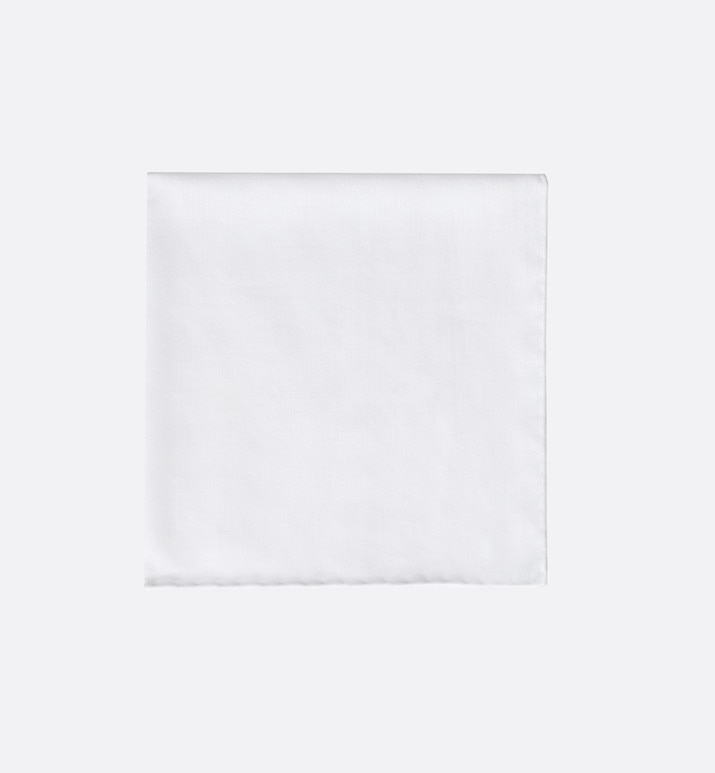 white cotton pocket square | Dior