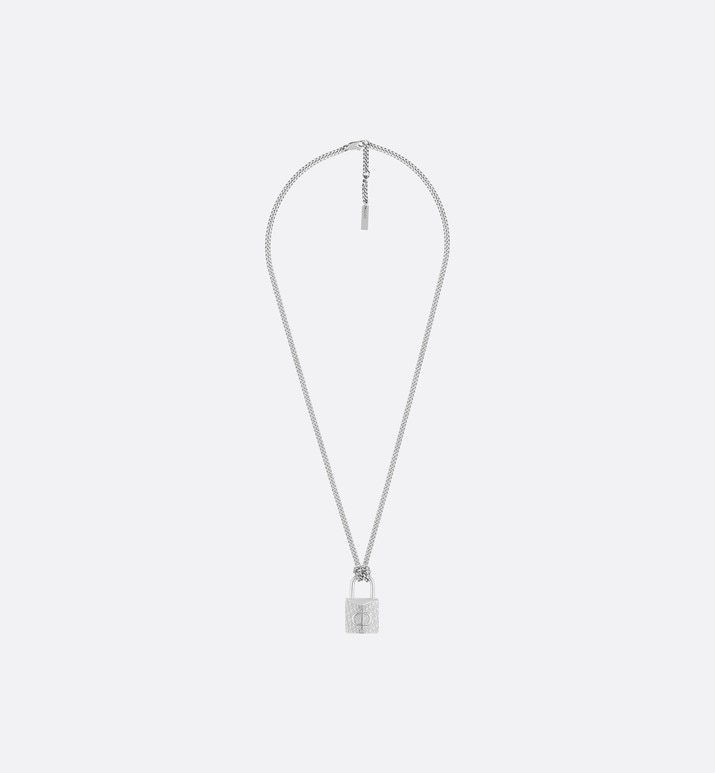dior oblique-hangslotketting van messing | Dior