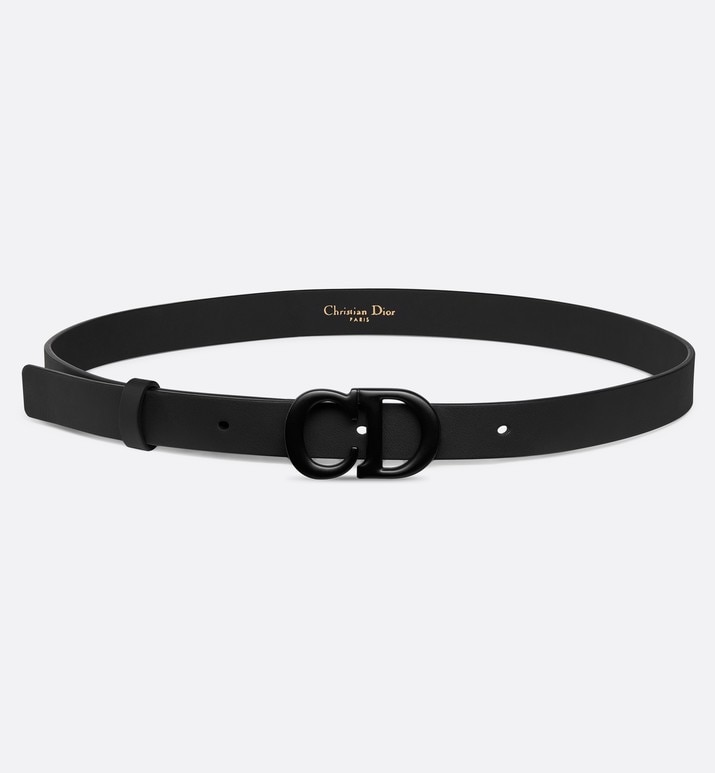 black saddle matte calfskin belt | Dior