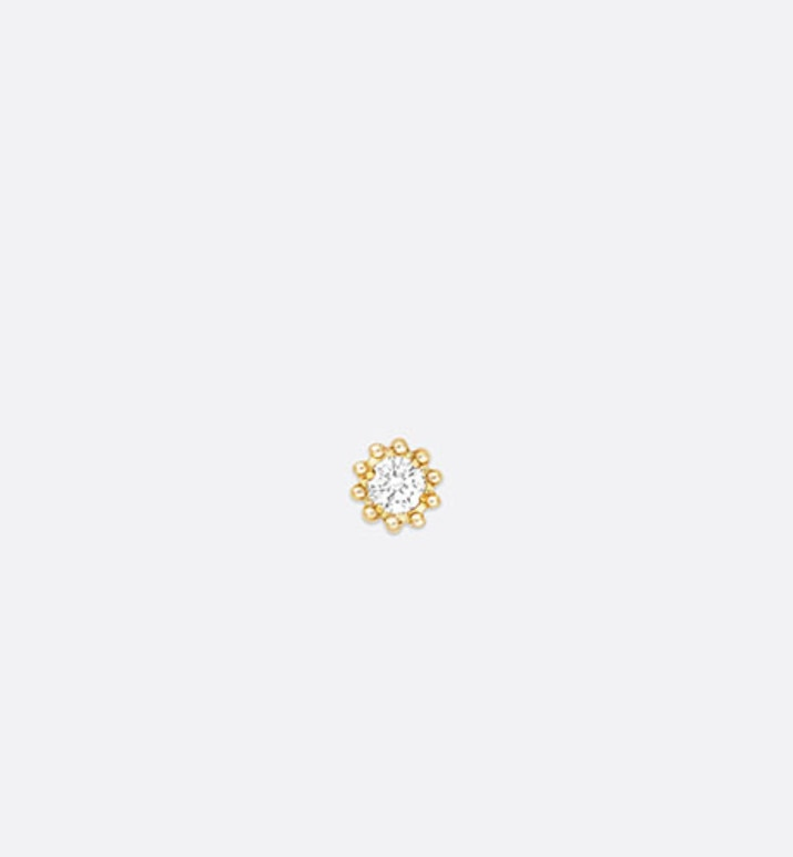 mimirose earring, 18k yellow gold and diamond | Dior
