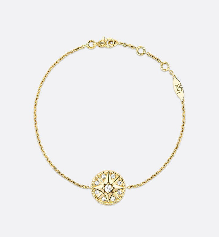 rose des vents bracelet, 18k yellow gold and diamonds | Dior