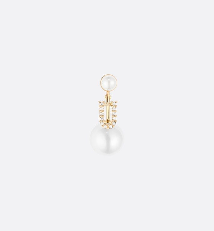letter 'u' my abcdior tribales gold finish earring | Dior