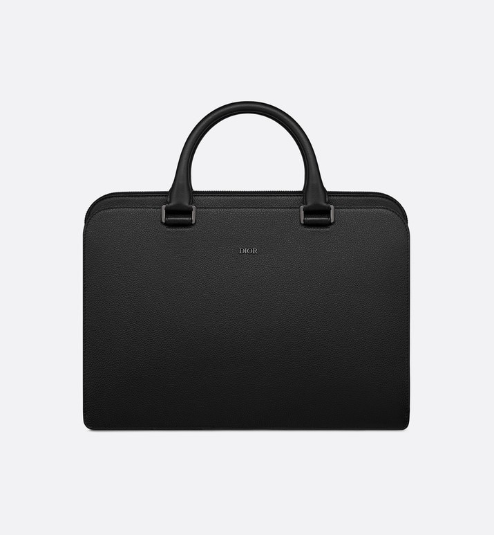 black grained calfskin briefcase | Dior