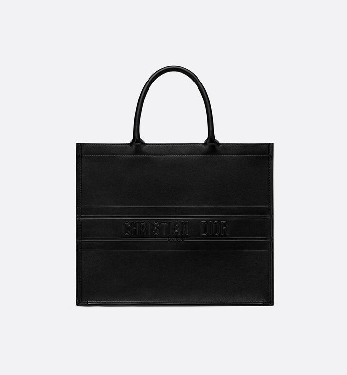 black embossed calfskin dior book tote | Dior