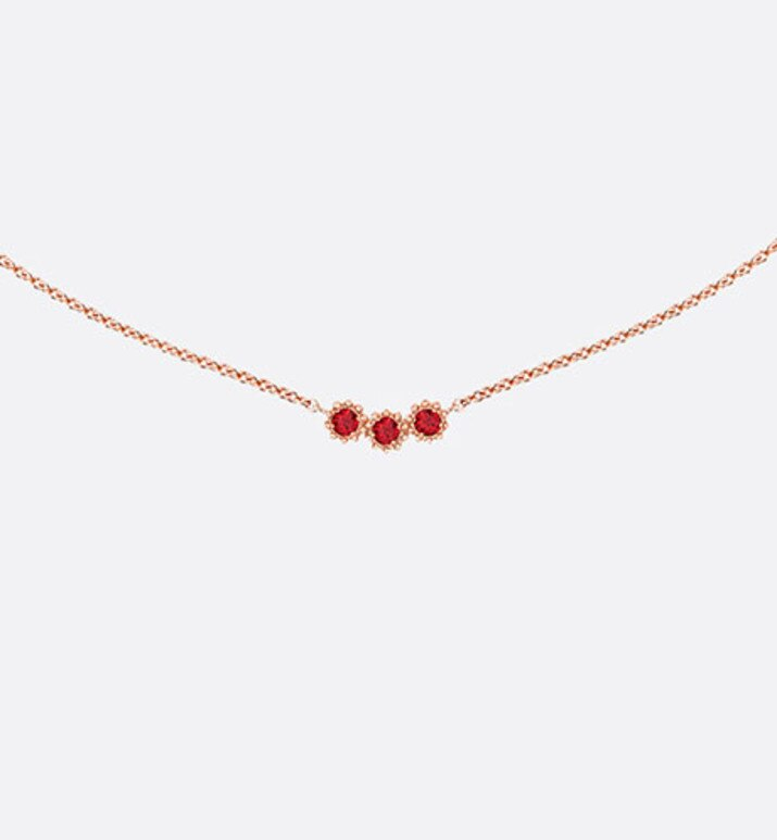 mimirose necklace, 18k pink gold and rubies | Dior