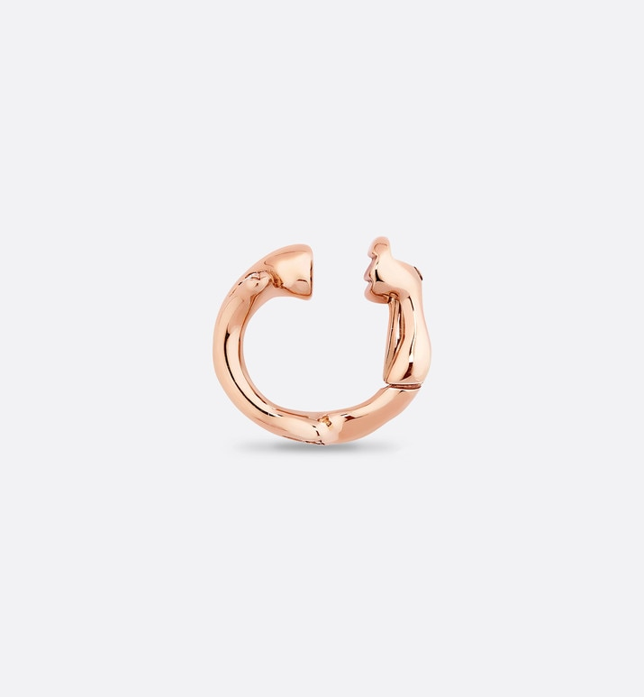 bois de rose earring, 18k pink gold and diamonds | Dior