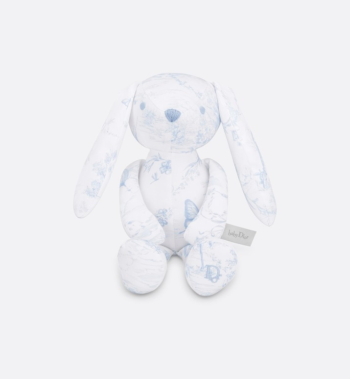 cotton satin 'toile de jouy' print rabbit | Dior