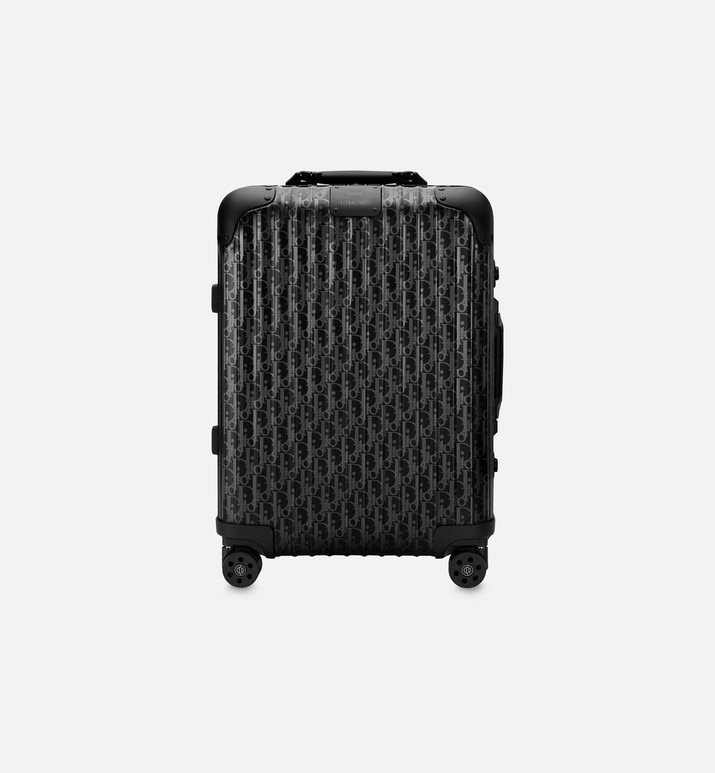 black dior and rimowa cabin suitcase in dior oblique aluminum | Dior
