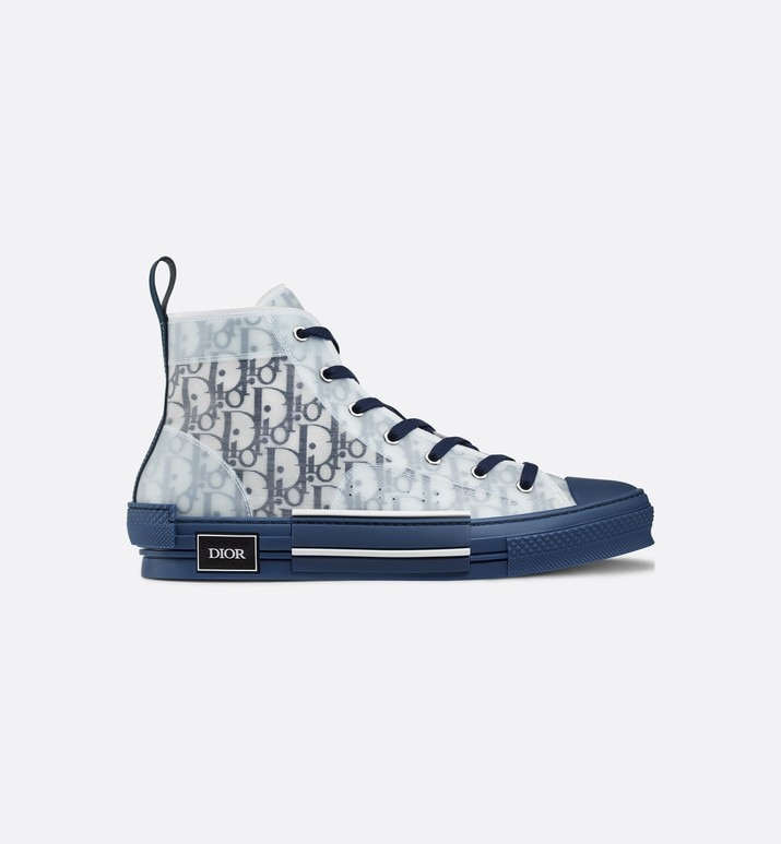 b23 high-top sneaker in blue dior oblique | Dior