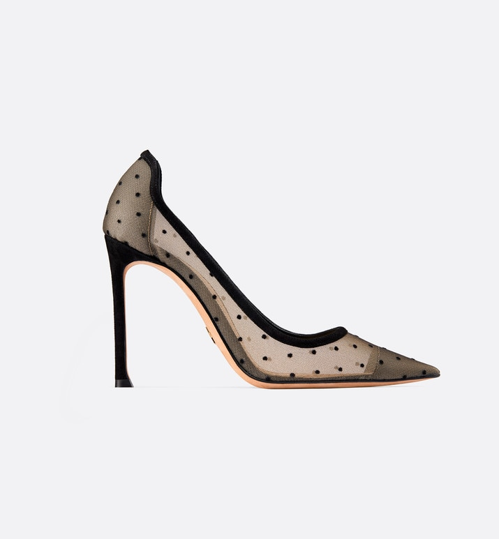 d-moi high-heeled shoe in dotted swiss tulle | Dior