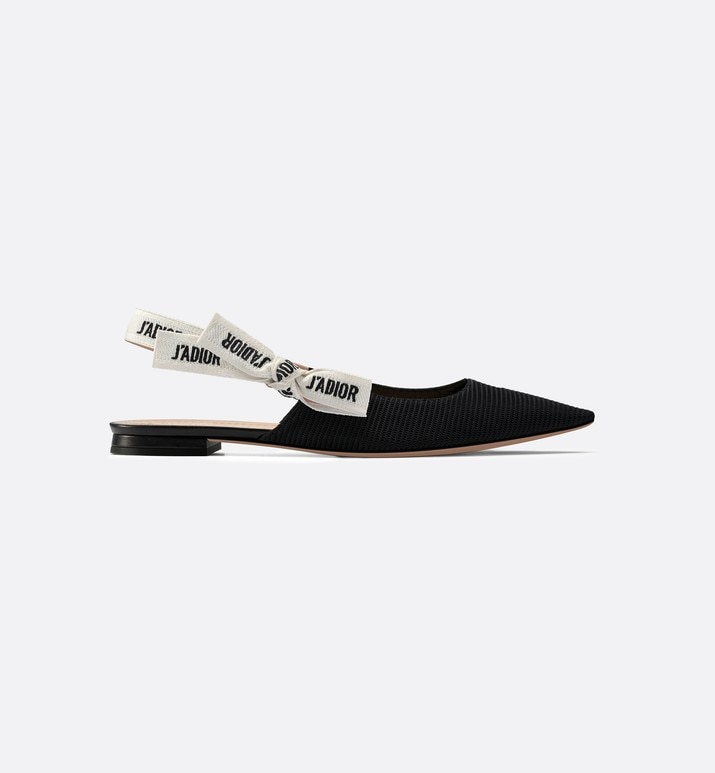 j'adior ballerina in black technical canvas | Dior