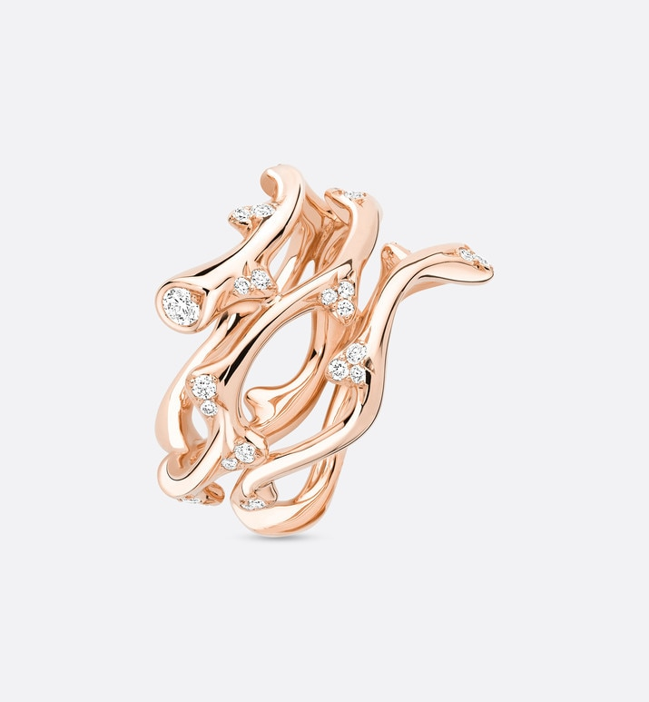 bois de rose ring in 18k pink gold and diamonds | Dior