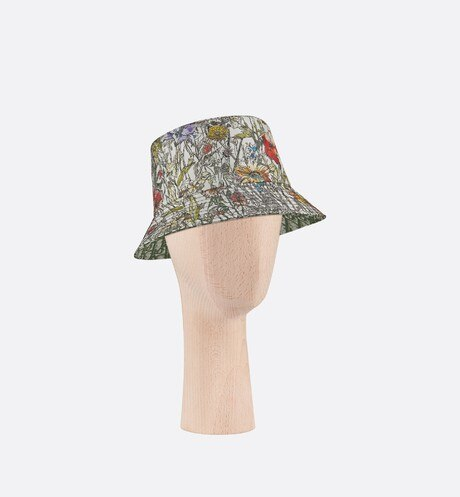 Reversible Mille Fleurs Small Brim Bucket Hat Three quarter closed view