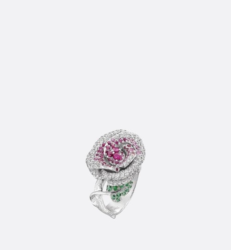 Medium Rose Dior Bagatelle Ring Three quarter opened view
