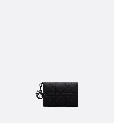 Portacarte Lady Dior con pattina aria_frontView