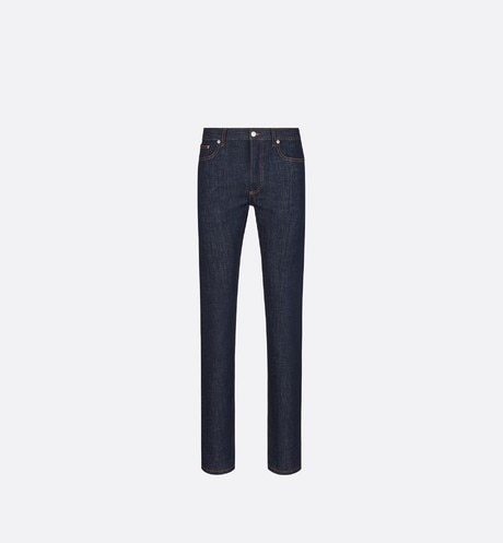 Slim-Fit Jeans with Dior Oblique Print Front view