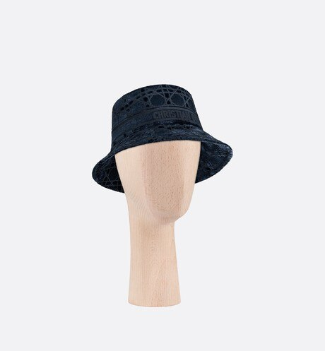 Dior Cannage Small Brim Bucket Hat Three quarter closed view