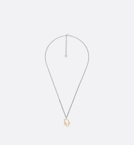 Dior Oblique Pendant Necklace Front view