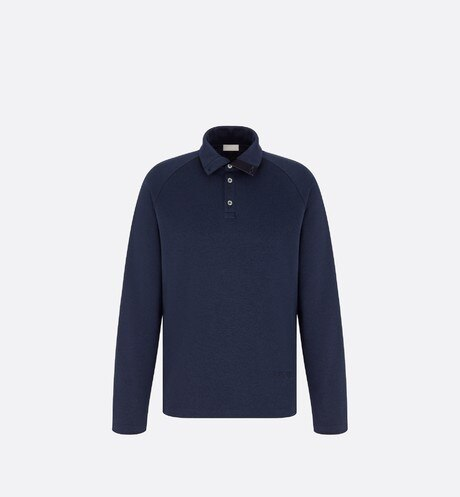 Long-Sleeved Polo Shirt Front view