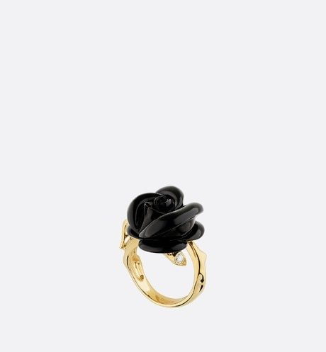 Small Rose Dior Pré Catelan Ring Three quarter opened view