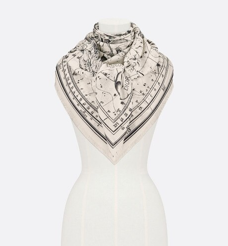 Dior Zodiac Shawl Worn view cropped