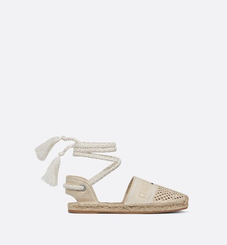 Dior Granville Espadrille with Laces Profile view