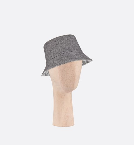 Reversible Dior Chic Small Brim Bucket Hat Three quarter closed view