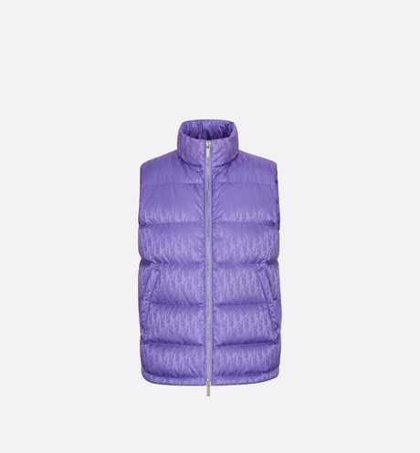 Dior Oblique Sleeveless Down Jacket Front view
