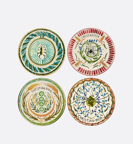Set of 4 Dessert Plates Front view