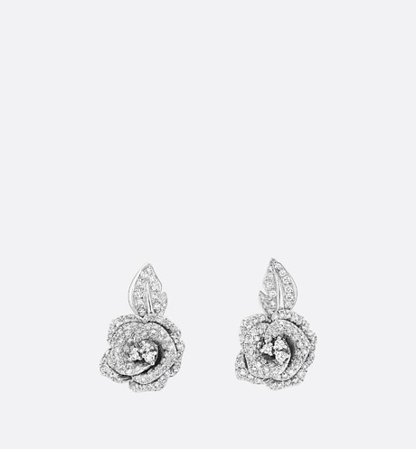 Medium Rose Dior Bagatelle Earrings Front view