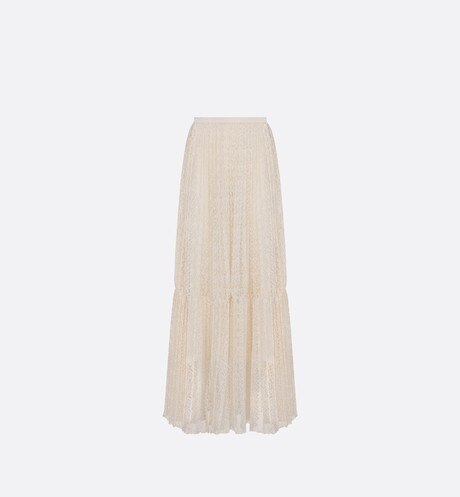 Long Pleated Skirt Front view