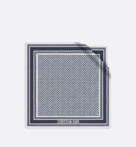 Dior Dots Square Scarf Front view