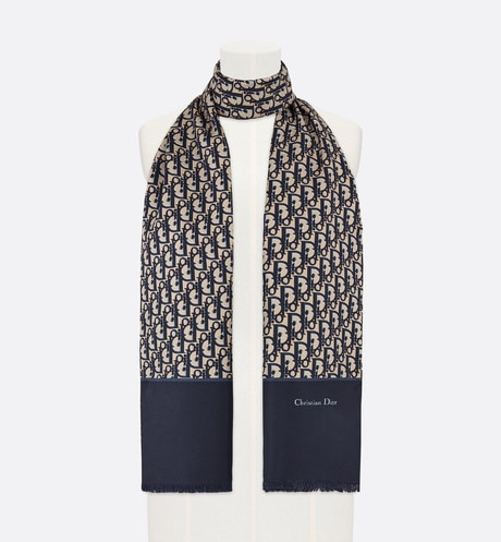 Click here to enlarge the product picture Toile Oblique navy blue stole