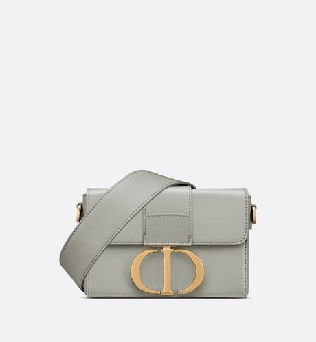 Gray Stone 30 Montaigne Box Calfskin Bag front view