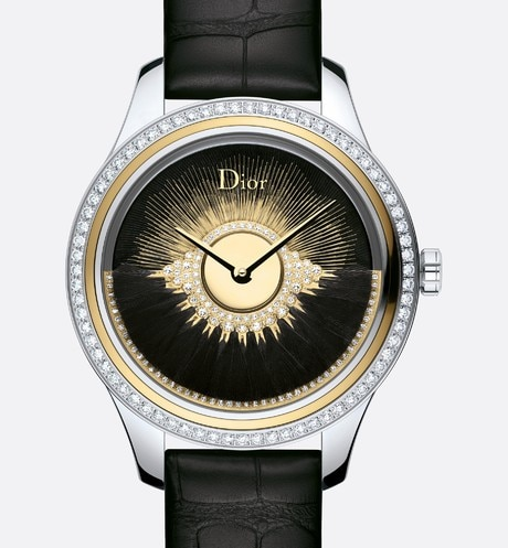 Black Dior Grand Bal Plume front view