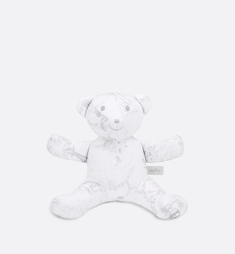 Cotton satin 'Toile de Jouy' print teddy bear aria_frontView