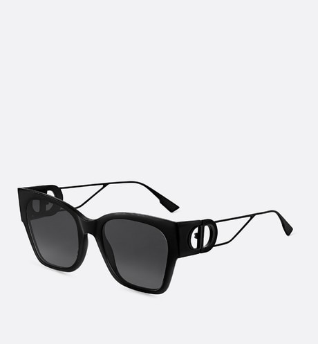 Click here to enlarge the product picture 30Montaigne1 Shiny and Matte Black Rectangular Sunglasses