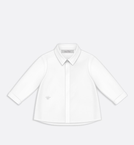 Shirt in white cotton poplin aria_frontView