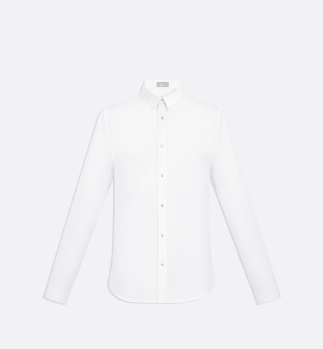 Shirt, press-studs, white cotton - Dior