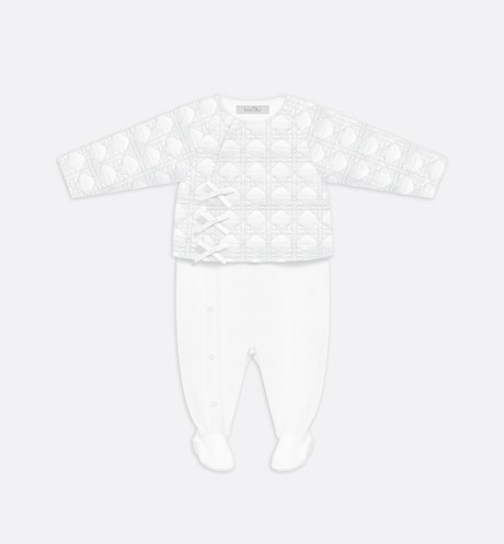 Embroidered cotton poplin pyjamas aria_frontView
