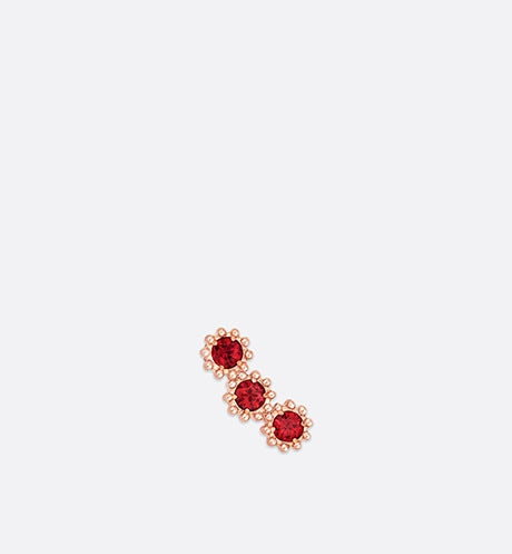 Click here to enlarge the product picture Mimirose earring, 18K pink gold and rubies