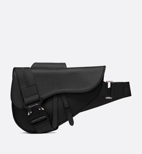 Saddle bag in black calfskin Black aria_frontView