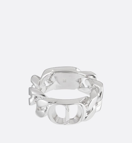 'CD Icon' Chain Link Ring Front view
