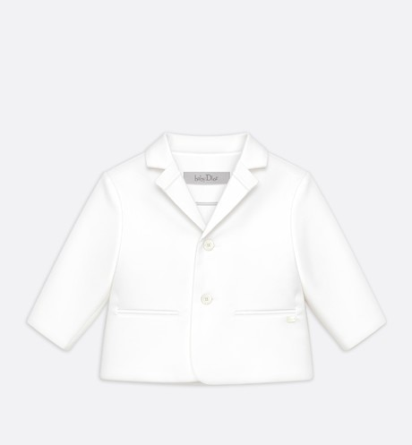 Suit jacket in white cotton and viscose aria_frontView