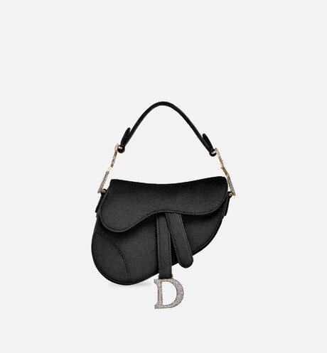Click here to enlarge the product picture Mini Saddle velvet bag