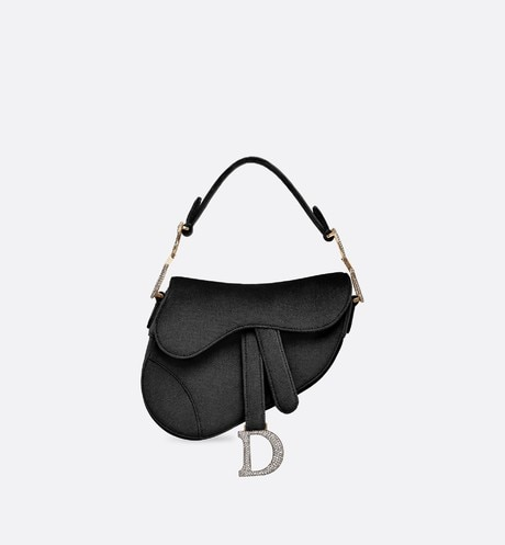 Mini Saddle velvet bag aria_frontView